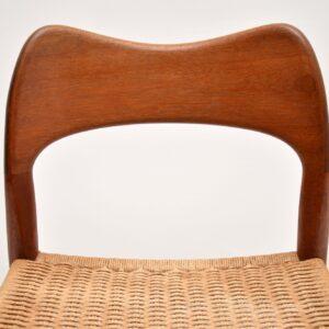 arne hovmand olsen mogens kold teak danish dining side desk chair