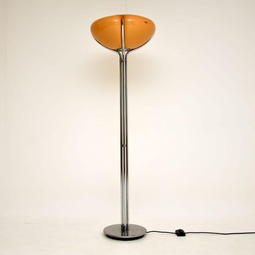 retro vintage italian floor lamp harvey guzzini quadrifoglio