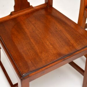 Pair of Art Deco Vintage Solid Mahogany Side Chairs