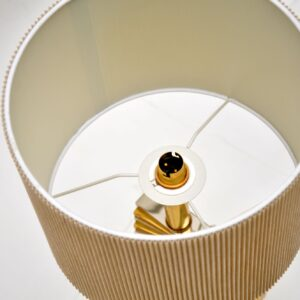 Vintage Brass & Chrome Table Lamp
