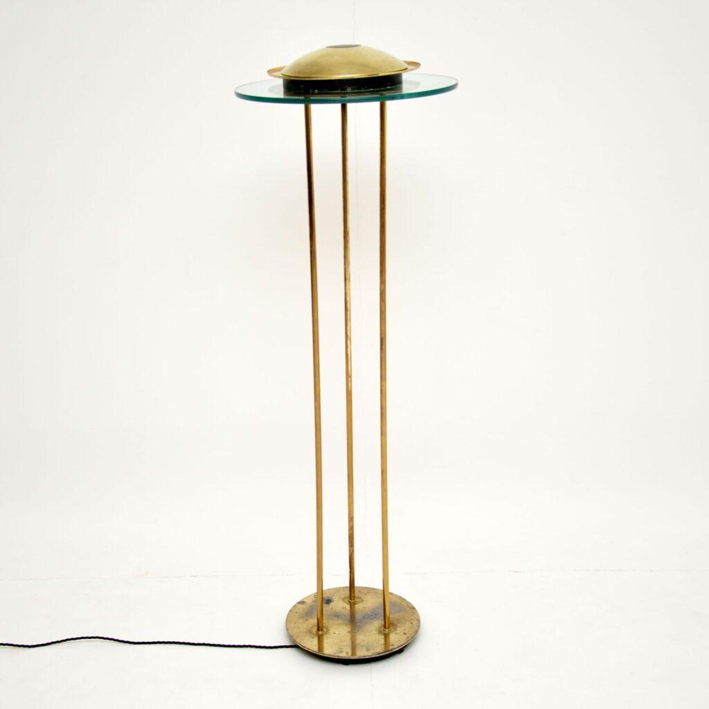 brass glass etro vintage floor lamp robert sonneman george kovacs