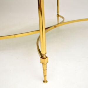 retro vintage french italian brass coffee table