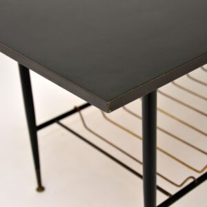 retro vintage brass coffee table