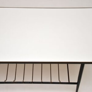 retro vintage brass formica coffee table 1950s