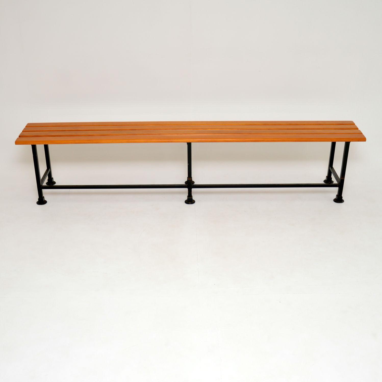 retro vintage school bench