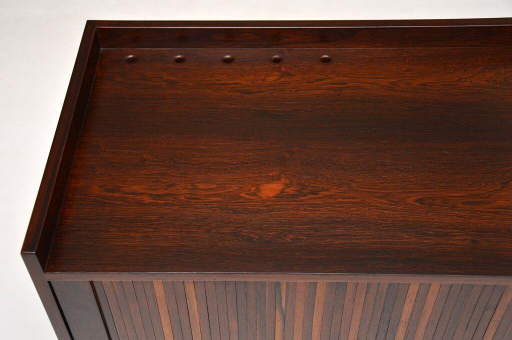 danish rosewood sideboard cabinet retro vintage haberdashery cabinet