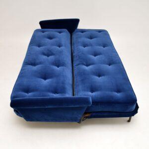 retro vintage g-plan sofa bed velvet 1950's