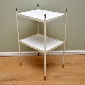 retro vintage french steel brass side table