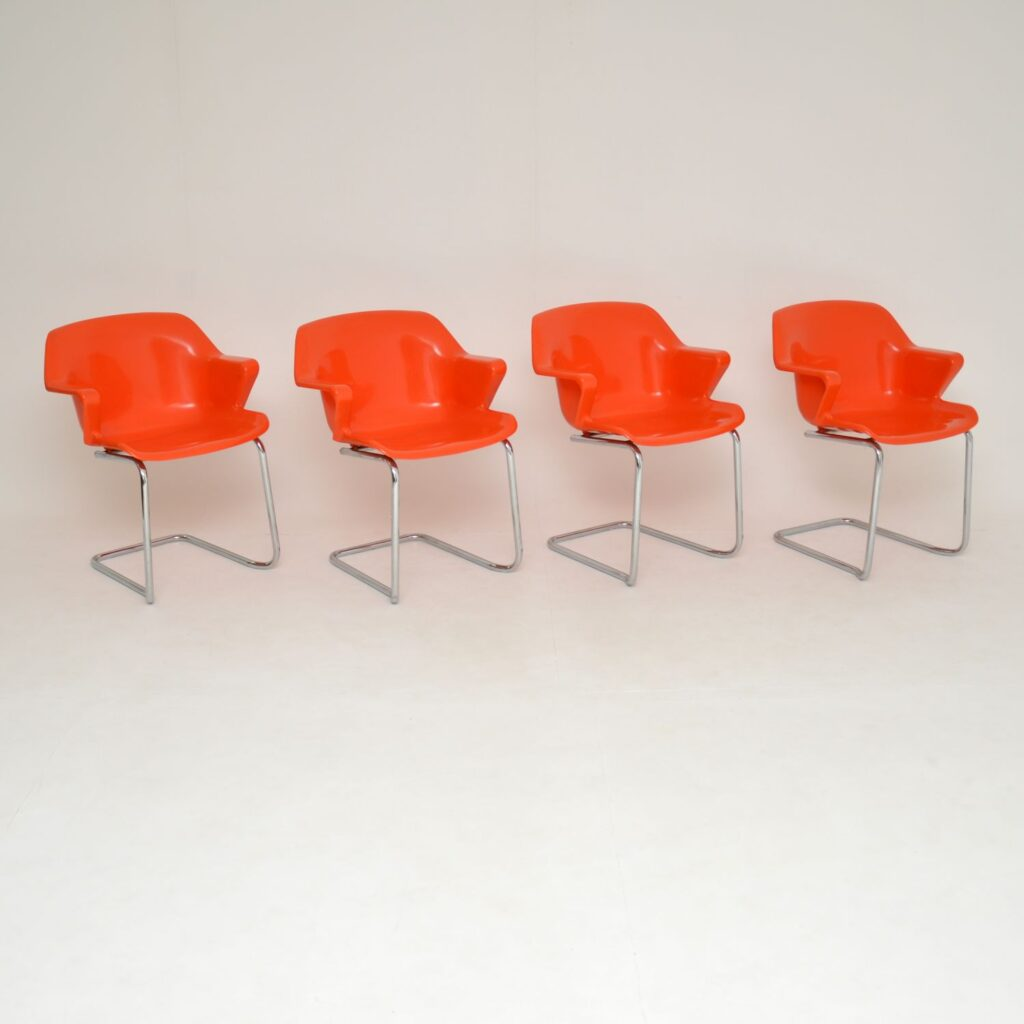 retro vintage steelux dining chairs robert heritgage