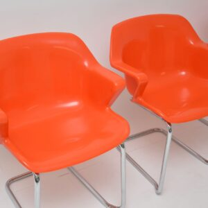 Set of 4 Retro Steelux Dining Chairs by Robert Heritage
