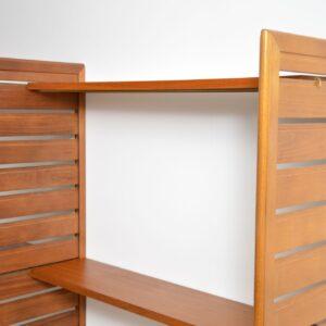 teak retro vintage ladderax wall unit shelving bookcase