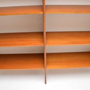 retro vintage teak ladderax shelving bookcase