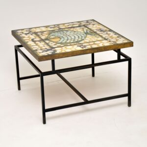 1960's Tiled Top Brass Coffee Table