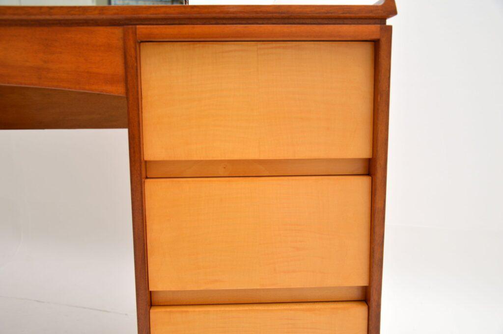 retro vintage walnut sycamore satin wood dressing table