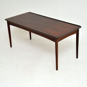 danish retro vintage rosewood coffee table