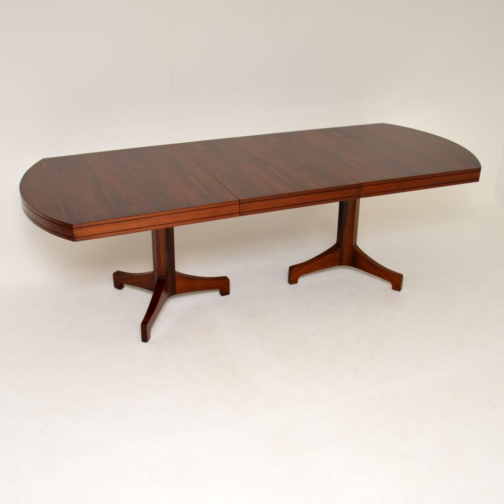 danish retro vintage rosewood dining table archie shine robert heritage