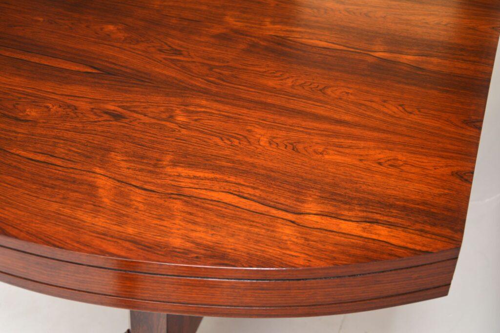 danish retro vintage rosewood dining table archie shine robert heritage