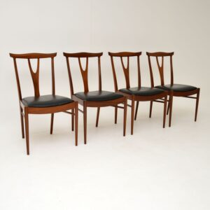 Set of 4 Vintage Dining Chairs in Rosewood & Afromosia