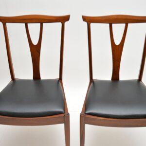 set of four retro vintage rosewood afromosia dining chairs