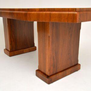 1920's Art Deco Figured Walnut Dining Table