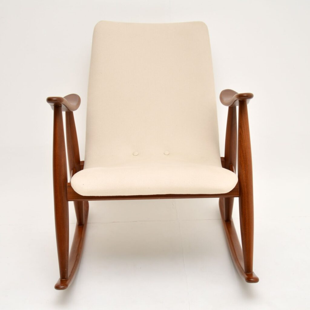dutch danish retro vintage rocking chair armchair louis van teeffelen
