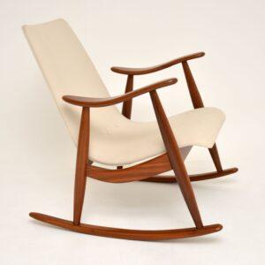 dutch danish retro vintage rocking chair armchair louis van teeffelen