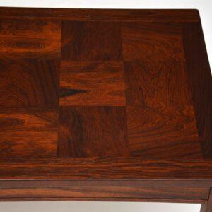 retro vintage danish scandinavian rosewood heggen coffee table