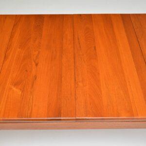 danish retro vintage teak extending dining table