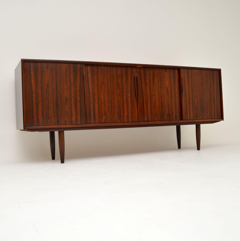 danish rosewood retro vintage sideboard gunni omann junior