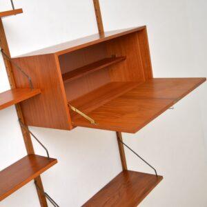 Danish Teak Vintage PS Wall System Bookcase Cabinet