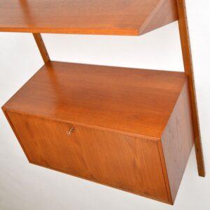 danish retro vintage teak ps cado wall system shelving bookcase cabinet