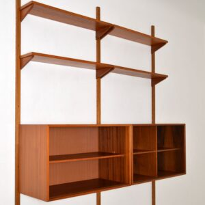 Danish Teak Vintage PS System Bookcase / Cabinet / Shelving