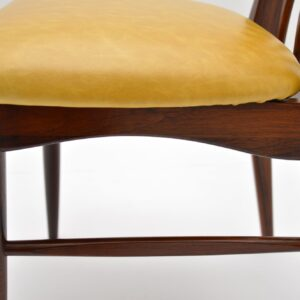 Set of 6 Danish Rosewood Dining Chairs by Niels Koefoed