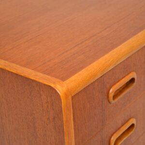 danish swedish retro vintage teak oak chest of drawers