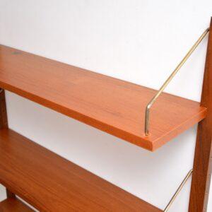 danish retro vintage teak cado royal bookshelves bookcase