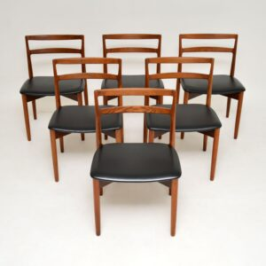 Danish Vintage Teak Dining Table & Chairs by Harry Ostergaard