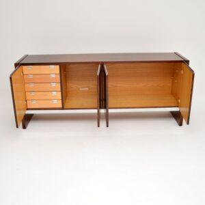 retro vintage rosewood chrome merrow associates sideboard