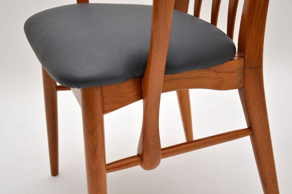teak retro vintage carver armchairs eva chairs niels koefoed koefoeds hornslet