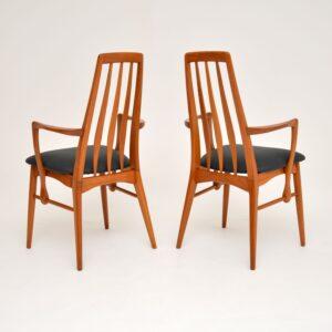 Pair of Danish Teak Vintage Carver Armchairs by Niels Koefoed