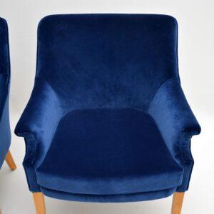 Pair of Howard Keith Armchairs Vintage 1960's