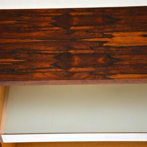 pair of merrow associates rosewood chrome open bookcase cabinets retro vintage