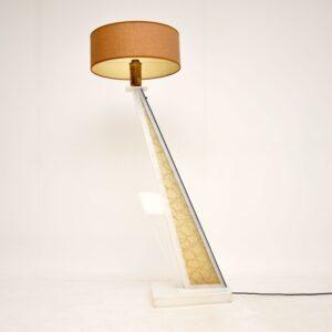 1954 Vintage Plexiglass Moss Floor Lamp