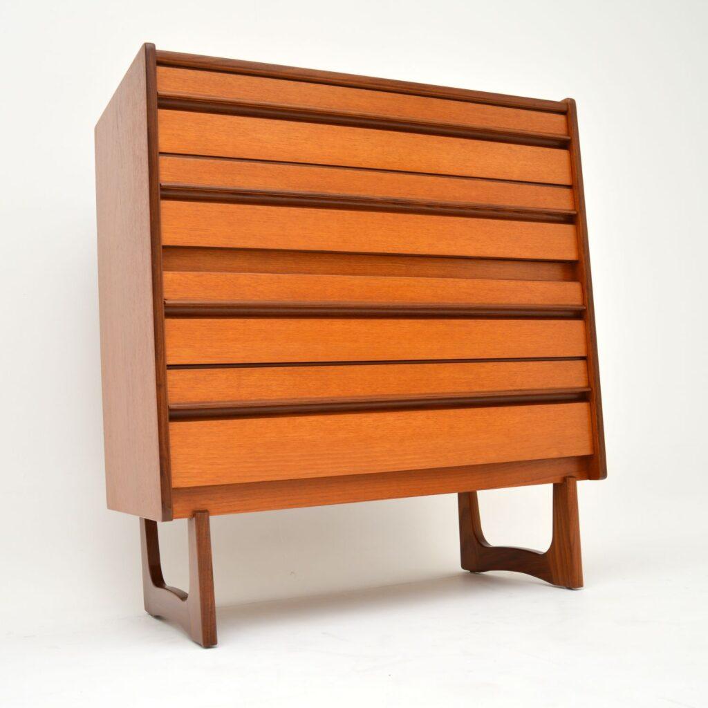 teak retro vintage chest of drawers william lawrence
