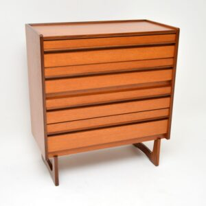 1960's Vintage Teak Chest of Drawers by William Lawrence