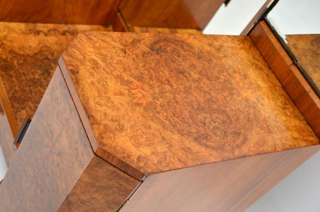 art deco burr walnut 1920's dressing table