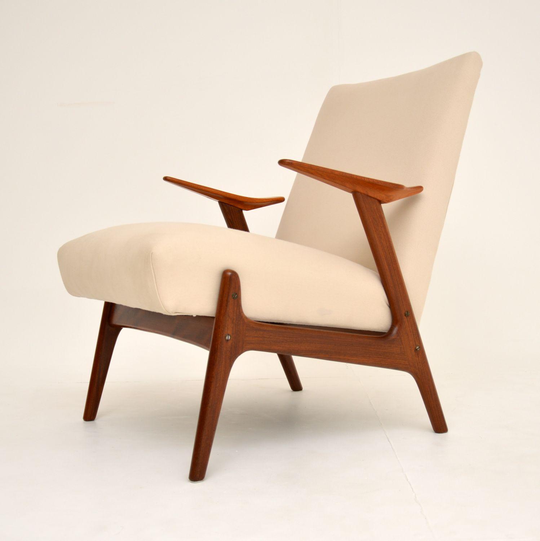 retro vintage danish dutch armchair