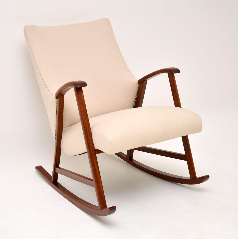 vintage retro dutch danish rocking chair armchair