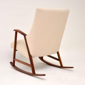 1960's Dutch Vintage Mahogany Rocking Chair