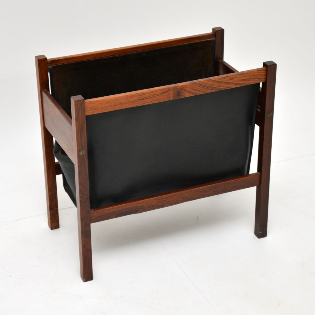 danish retro vintage rosewood magazine newspaper holder rack canterbury