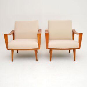 1960's Pair of Dutch Vintage Armchairs